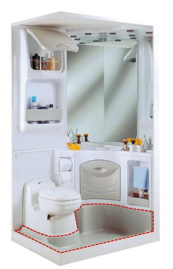 Acdc tous les accessoires pour votre camping car et for Cabine de douche avec wc et lavabo